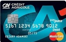 Darmowe konto bankowe - Karta Credit Agricole