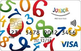 Karta Visa Junior dla dziecka poniżej 13 roku życia