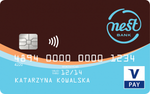 Nest Konto Waluta - karta V PAY
