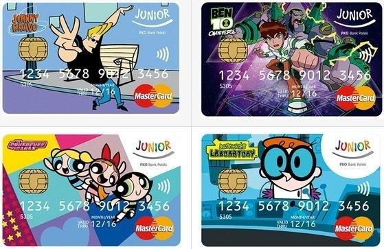 Karty MasterCard dla dziecka poniżej 13 roku życia