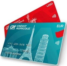 Credit Agricole - karty walutowe USD i EUR