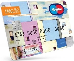 Karta Maestro EUR - konto walutowe ING Bank Śląski