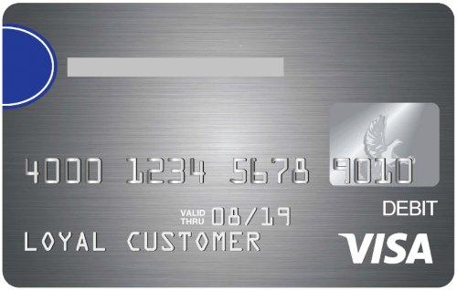 Awers przykładowej karty debetowej