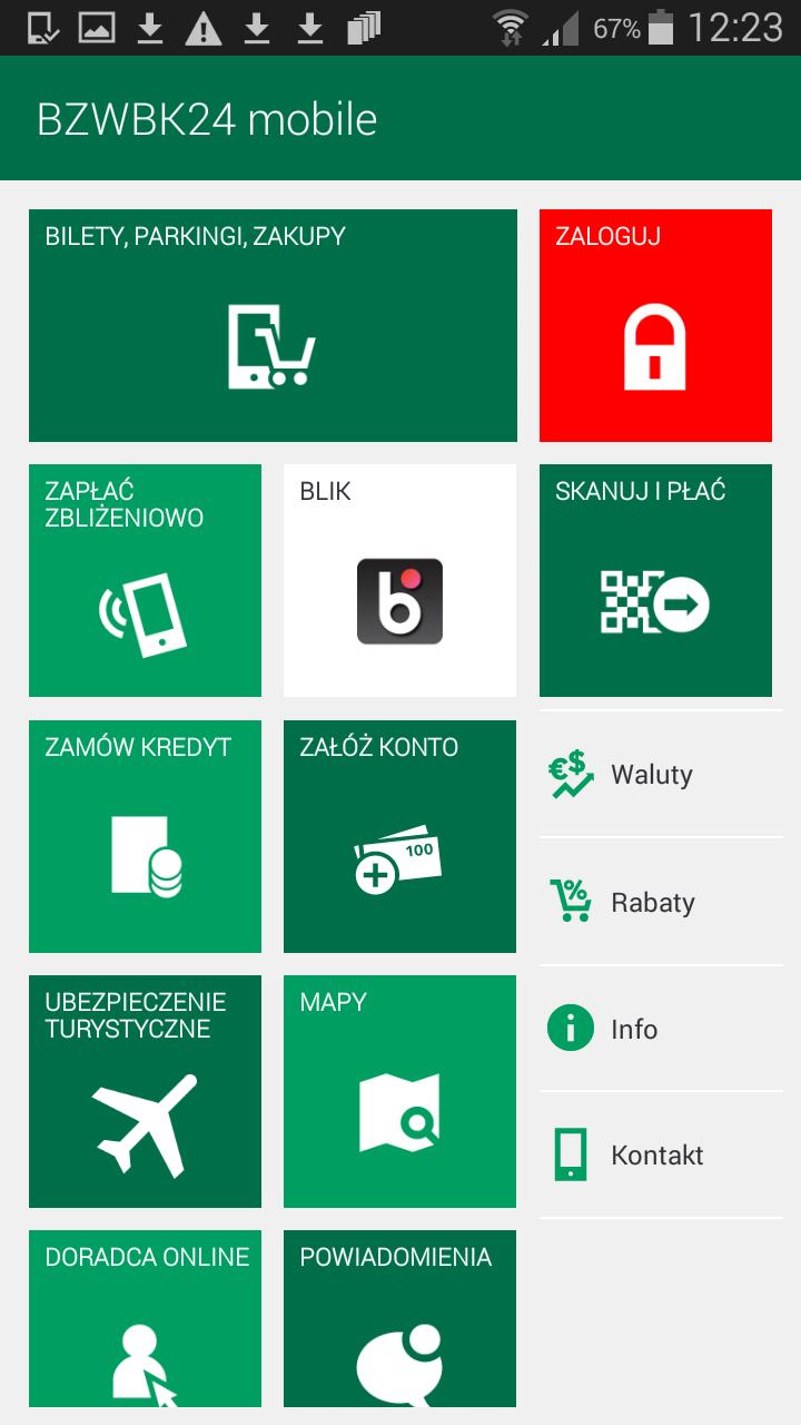Z aplikacji mobilnej wybieramy BLIK