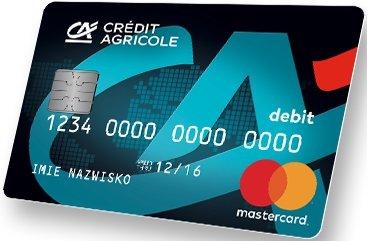 Karta płatnicza do Konto PROSTOoszczędzające Plus - Credit Agricole