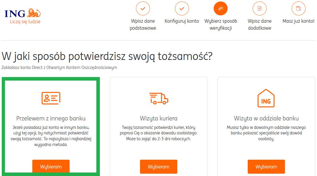 Zakładanie konta bez kuriera w ING Bank Śląski