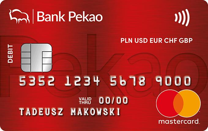 Konto Przekorzystne Pekao - karta wielowalutowa Mastercard