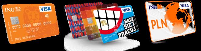 Standardowa karta płatnicza Visa - karta z własną grafiką - karta wielowalutowa ING