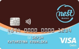 Nest Konto - karta płatnicza Visa Debit