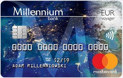 Konto walutowe Millennium Bank - karta Mastercard Voyager