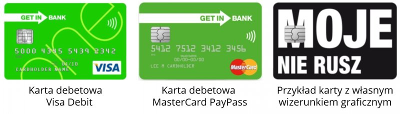 Karty płatnicze do rachunku młodzieżowego Getin Bank