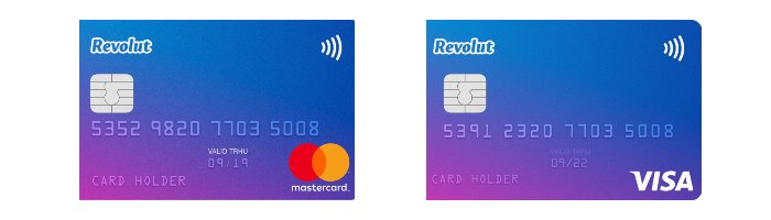 Karta Revolut - MasterCard oraz VISA